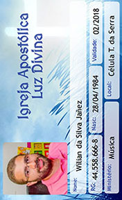 Cartão de membro de Igreja - Cartão de membro de Igreja na grande sp