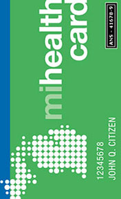 Cartão de plano de saúde