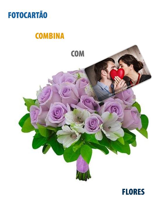 Fotocartão combina com Flores.